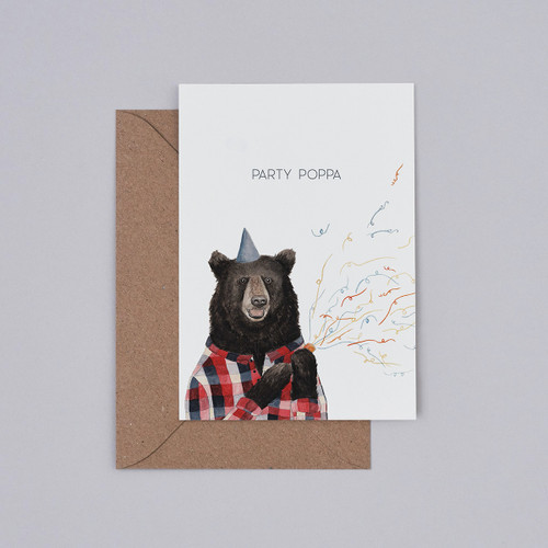 Party Poppa Card by Mister Peebles at Of Cabbages and Kings