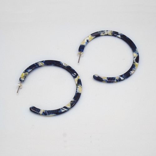 Caerula Hoop Earrings By Custom Made at Of Cabbages and Kings
