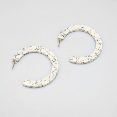 Marmaro Hoop Earrings By Custom Made at Of Cabbages and Kings