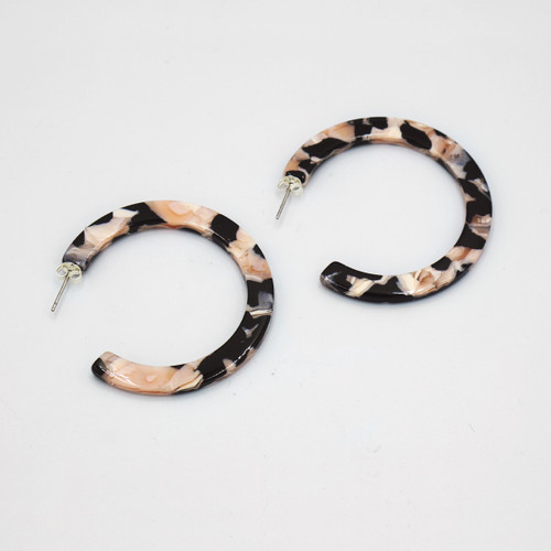 Rosea Hoop Earrings By Custom Made at Of Cabbages and Kings