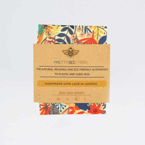 Beeswax Wrap - Bright Flowers by Pretty Bee Fresh at Of Cabbages and Kings