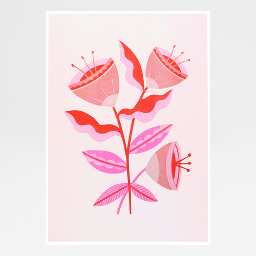 Abstract Pink Flowers by Melissa Donne Studio at Of Cabbages and Kings