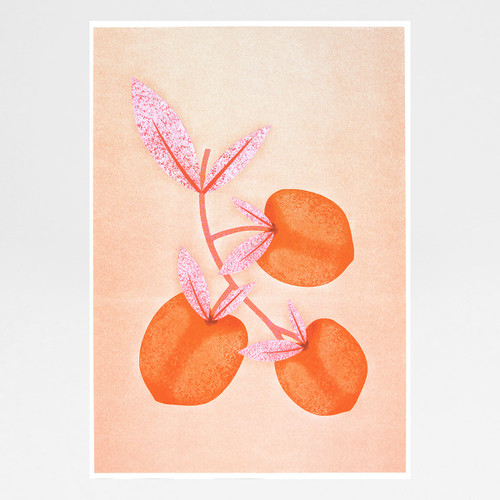 Botanical Peaches by Melissa Donne Studio at Of Cabbages and Kings