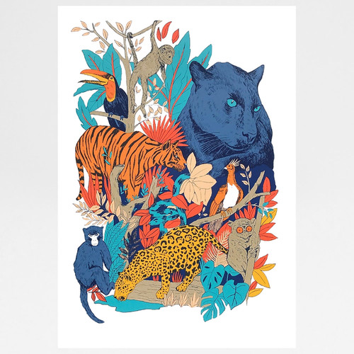 Jungle Fever screen print by Caitlin Parks at Of Cabbages and Kings