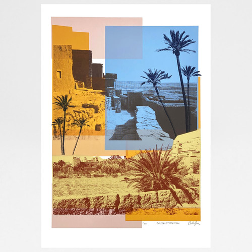 Sun Over Ait Ben Haddou screen print by Caitlin Parks at Of Cabbages and Kings