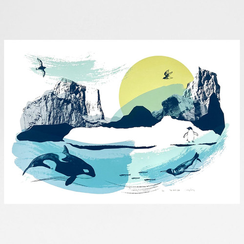 The Ross Sea screen print by Caitlin Parks at Of Cabbages and Kings