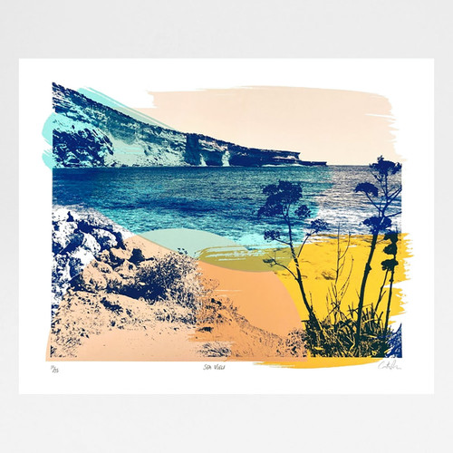 Sea View screen print by Caitlin Parks at Of Cabbages and Kings
