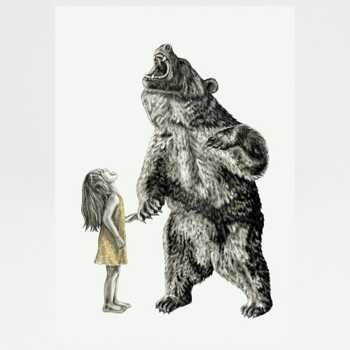 Bear With Me art print by Lauren Mortimer at Of Cabbages and Kings