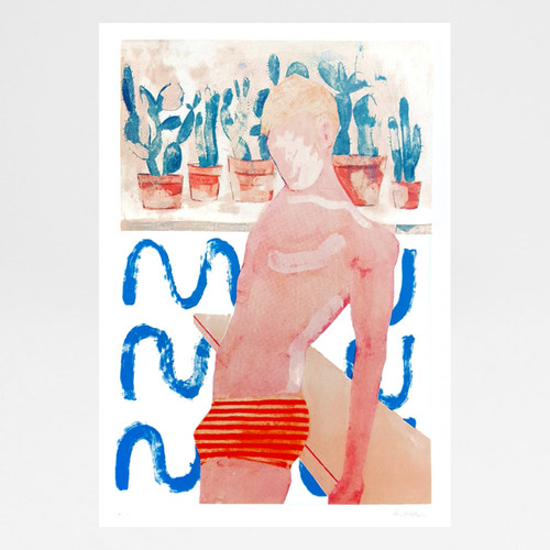 Pool Boy (Ripples) screen print by Gavin Dobson at Of Cabbages and Kings
