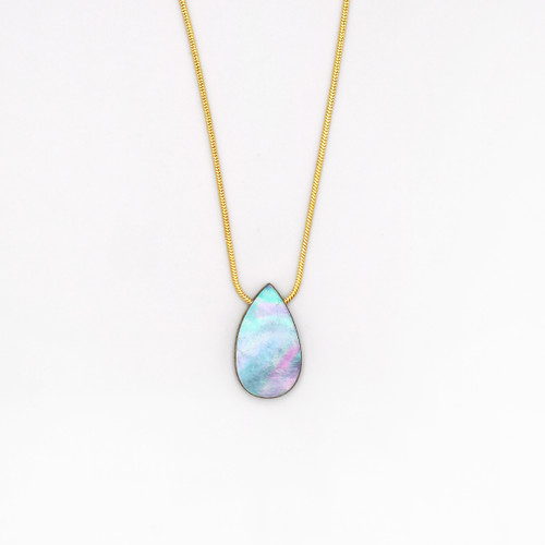 Raindrop Necklace - Blue by Wolf and Moon at Of Cabbages and Kings