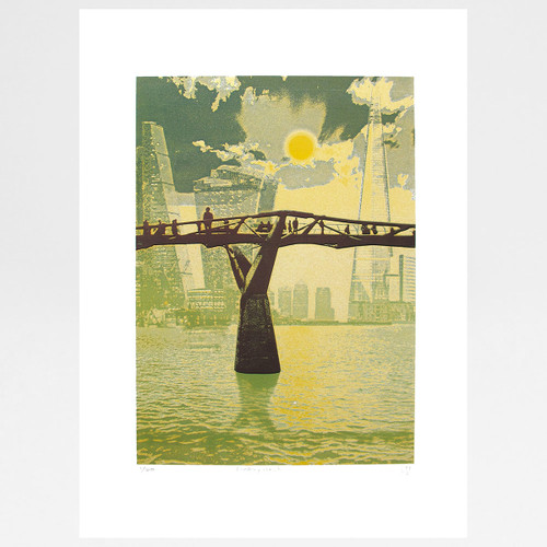 Looking East Screen print by Martin Mossop at Of Cabbages and Kings
