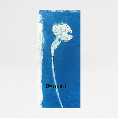 Daffodil cyanotype print by Factory Press at Of Cabbages and Kings