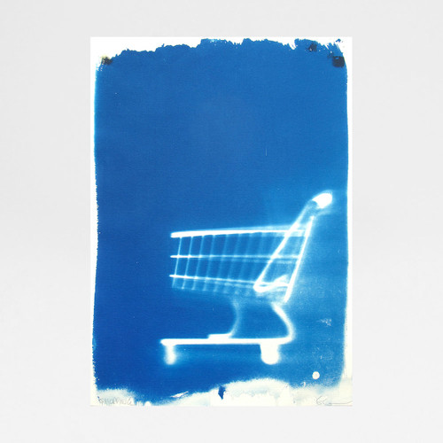 Shopping Trolley cyanotype print by Factory Press at Of Cabbages and Kings