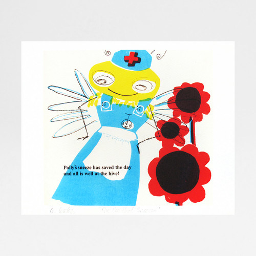 Bee Nurse print by Factory Press at Of Cabbages and Kings