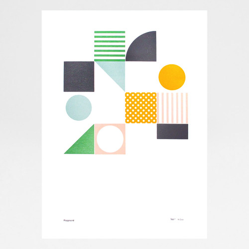 Playground 1 Letterpress Print by Tom Pigeon at Of Cabbages and Kings