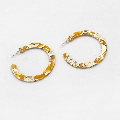 Saffron Hoop Earrings by Custom Made at Of Cabbages and Kings