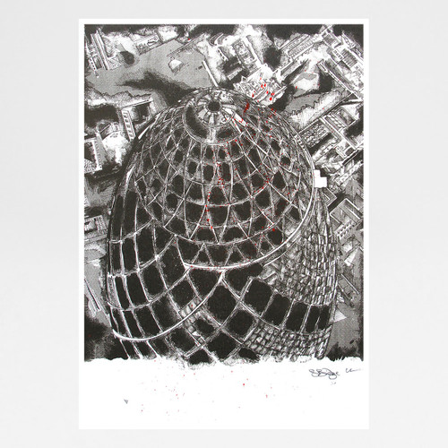 Gherkin art print by Sam Bridge at Of Cabbages and Kings