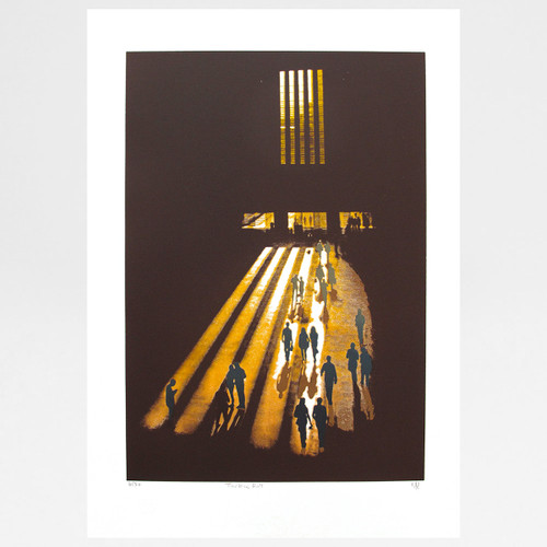 Turbine Hall screen print by Martin Mossop at Of Cabbages and Kings