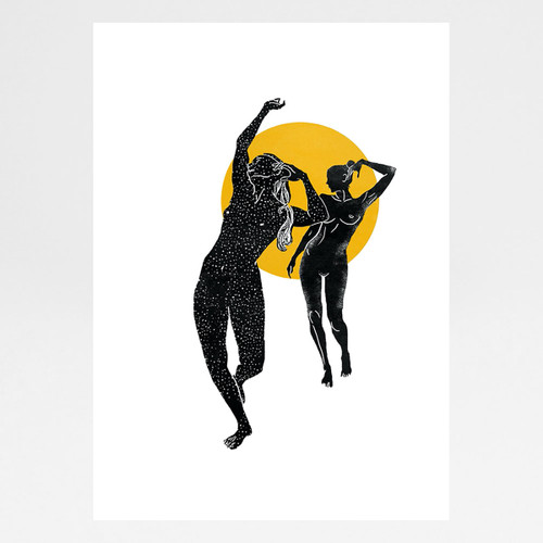 Dancing Girls Art Print by Angela Britton at Of Cabbages and Kings