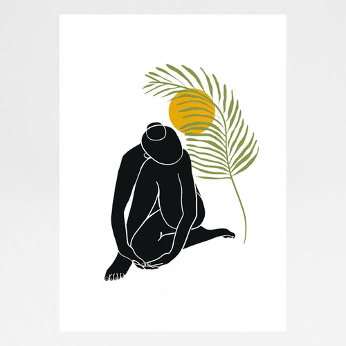 Palm Girl Art Print by Angela Britton at Of Cabbages and Kings