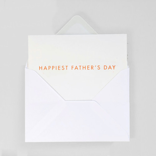 Happiest Father's Day Typographic Father's Day Card by Ola at Of Cabbages and Kings