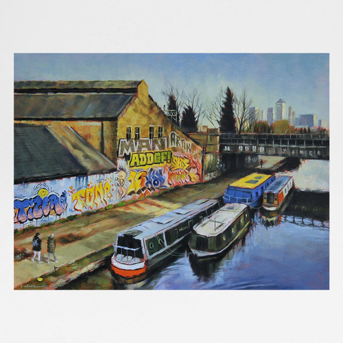 On The Canal art print by Marc Gooderham available at Of Cabbages and Kings.