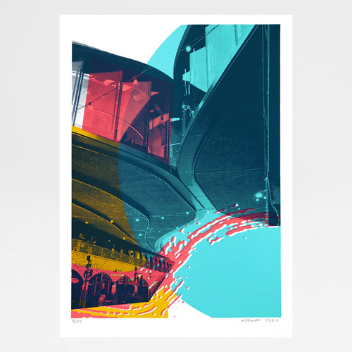 Brutal Forms IX Screen Print by Underway Studio at Of Cabbages and Kings