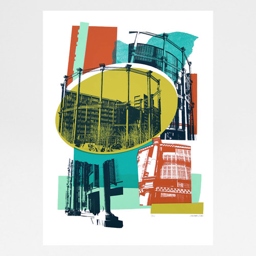 Gasholder Park screen print by Underway Studio at Of Cabbages and Kings