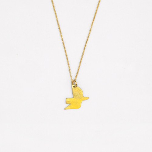 Ella's Dove Necklace - Brass by Pivot at Of Cabbages and Kings