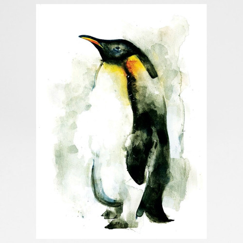 Penguin screen print by Gavin Dobson at Of Cabbages and Kings