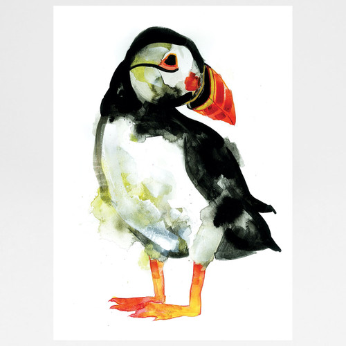 Puffin screen print by Gavin Dobson at Of Cabbages and Kings