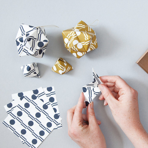 Origami Decoration Kit - Benita Print by Ola at Od Cabbages and Kings