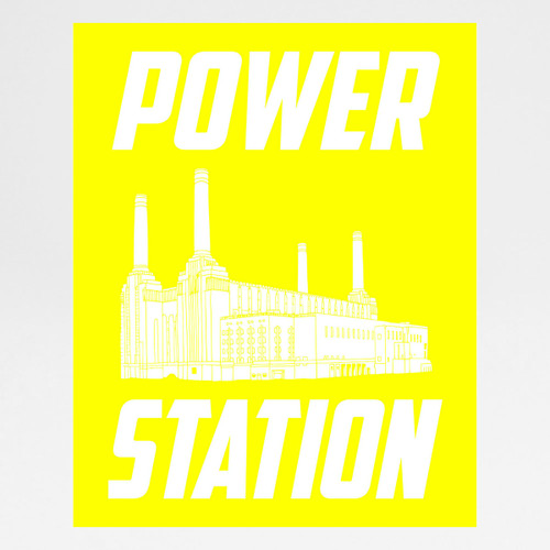 Power Station screen print by Alfred & Wilde at Of Cabbages and Kings.