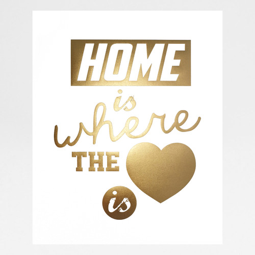 Home is Where The Heart by Alfred & Wilde framed available at Of Cabbages and Kings.