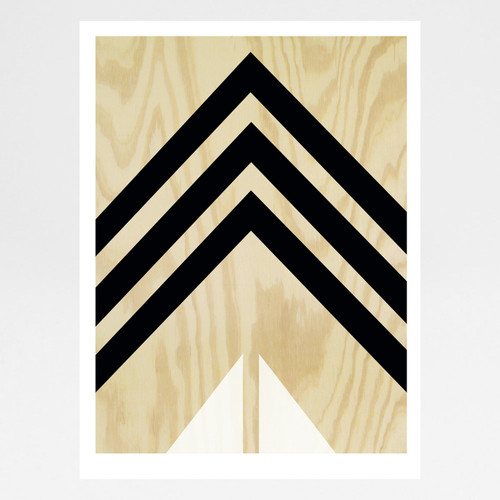 Plywood Print - Black and White by Alfred & Wilde at Of Cabbages and Kings