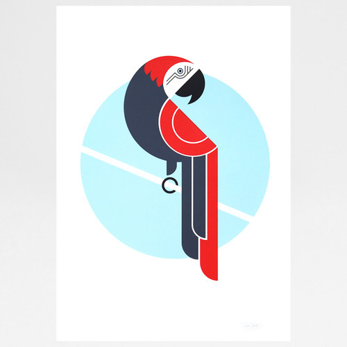 Parrot screen print by The Lost Fox at Of Cabbages and Kings
