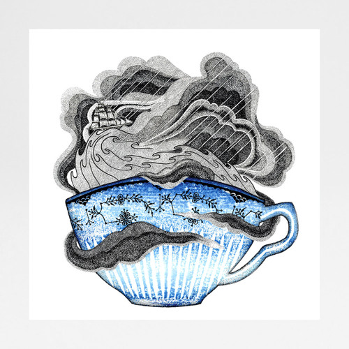 Storm In A Teacup art print by Tom Berry at Of Cabbages and Kings