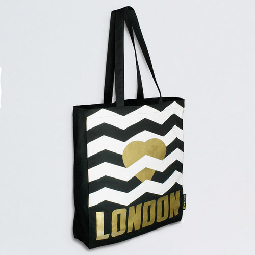 Heart London gold tote bag by Alfred & Wilde at Of Cabbages and Kings.