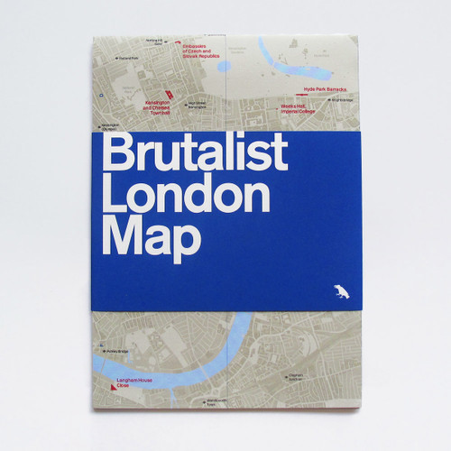 Brutalist London Map by Blue Crow Media at Of Cabbages and Kings.