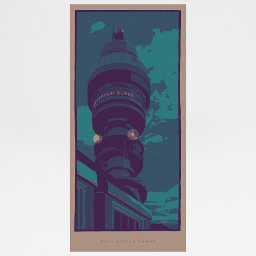 Post Office Tower art print by Liam Devereux at Of Cabbages and Kings