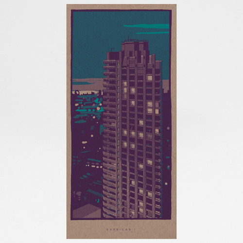 Barbican art print by Liam Devereaux at Of Cabbages and Kings