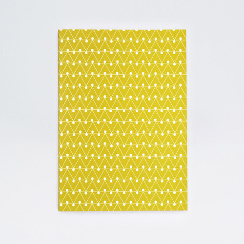 A5 Ruled Layflat Notebook - Dash Print, Leaf Green by Ola at of cabbages and kings