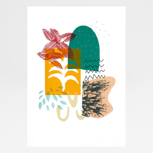 Moroccan Garden screen print by Anna Schmidt available at Of Cabbages and Kings.