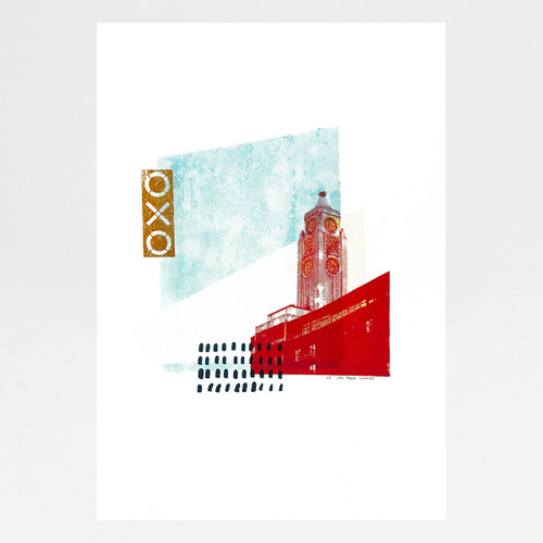 Oxo Tower screen print by Anna Schmidt available at Of Cabbages and Kings.