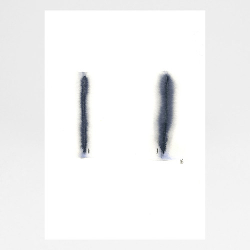 Poles Apart But Very Much In Love art print by Sarah Beaton at Of Cabbages and Kings