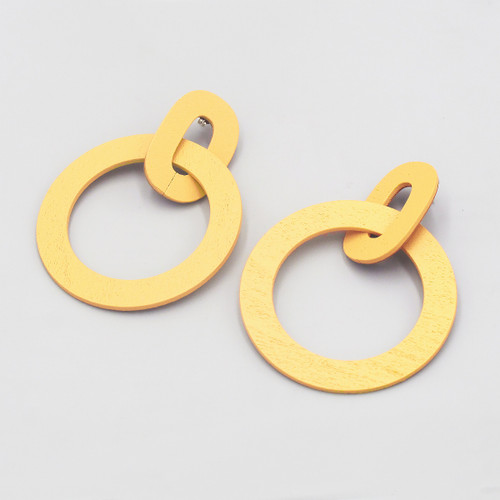 Orla II Earrings yellow from Wolf and Moon at Of Cabbages and Kings