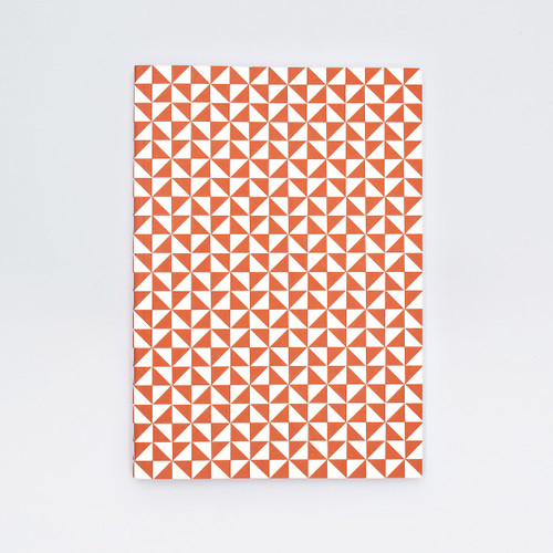 A5 Ruled Layflat Notebook - Kaffe Print, Brick Red by Ola at Of Cabbages & Kings
