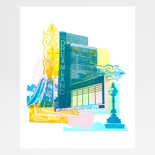 Dreamland, Margate screen print by Melissa North at Of Cabbages and Kings