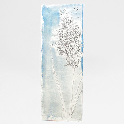 Grass cyanotype by Factory Press at Of Cabbages and Kings