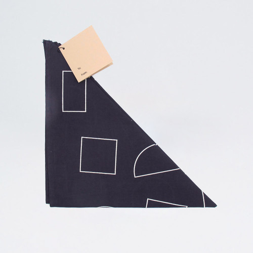 Organic Cotton Wrap - Shapes, Indigo by Ola at Of Cabbages and Kings